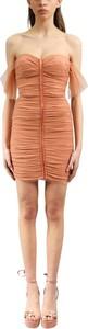 Pomarańczowa sukienka Elisabetta Franchi mini dopasowana