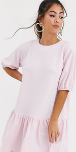 Różowa sukienka Asos oversize mini