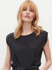 T-shirt Reserved z okrągłym dekoltem w stylu casual z krótkim rękawem