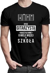 Czarny t-shirt Koszulkowy z bawełny