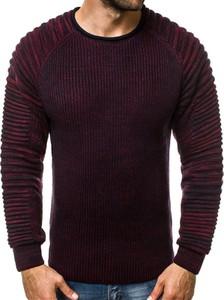 Czerwony sweter Ozonee z wełny