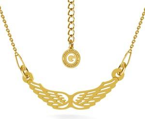 GIORRE SREBRNY NASZYJNIK CELEBRYTKA SKRZYDŁA 925 : Kolor pokrycia srebra - Pokrycie Żółtym 24K Złotem