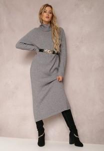 Sukienka Renee z długim rękawem w stylu casual z tkaniny