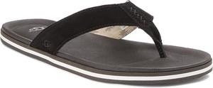 Czarne buty letnie męskie UGG Australia z zamszu w stylu casual