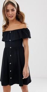 Czarna sukienka Asos Design z krótkim rękawem mini