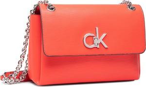 Czerwona torebka Calvin Klein na ramię