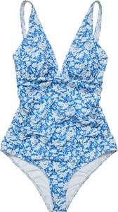 Niebieski strój kąpielowy Gestuz w stylu casual z nadrukiem