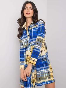 Sukienka Fashionhunters mini z długim rękawem koszulowa