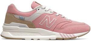 Różowe buty sportowe New Balance z zamszu