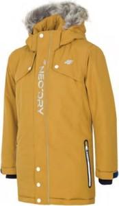 Żółta kurtka dziecięca 4F