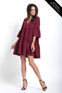 Sukienka Ivon z długim rękawem mini w stylu casual