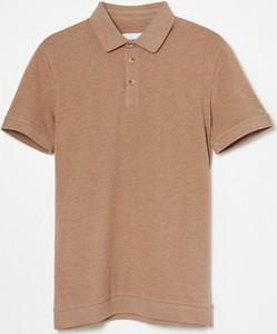 Brązowy t-shirt Reserved z krótkim rękawem