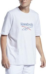 T-shirt Reebok w młodzieżowym stylu z bawełny z krótkim rękawem
