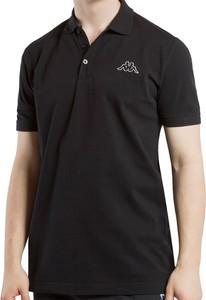 Czarna koszulka polo Kappa z bawełny
