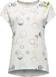 T-shirt Esprit z nadrukiem z bawełny