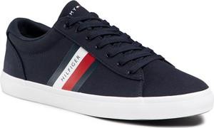 Tommy Hilfiger Tenisówki Essential Stripes Detal Sneaker FM0FM03389 Granatowy