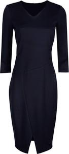 Niebieska sukienka Nife dopasowana w stylu casual mini