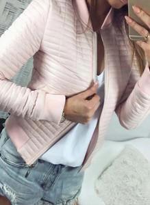 Różowa kurtka Arilook krótka