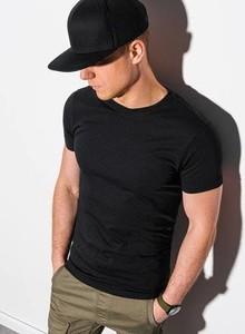 Czarny t-shirt Ombre w stylu casual