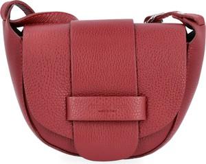 Czerwona torebka VITTORIA GOTTI w stylu glamour mała ze skóry