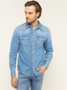 Niebieska koszula Pepe Jeans z długim rękawem