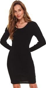 Sukienka Top Secret z długim rękawem dopasowana w stylu casual