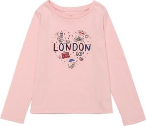 Różowa bluzka dziecięca Gap z dżerseju