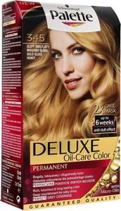 Palette, Deluxe, farba permanentna do włosów, złoty świetlisty miodowy blond nr 345