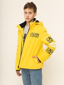 Żółta kurtka dziecięca Calvin Klein z jeansu