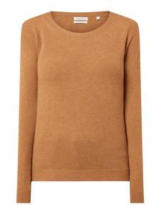 Brązowy sweter Christian Berg Women z wełny