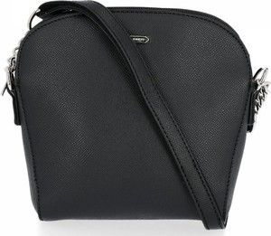 Czarna torebka David Jones na ramię średnia matowa