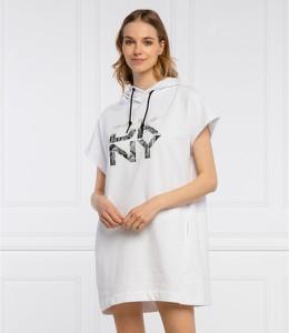 Sukienka DKNY w stylu casual z okrągłym dekoltem z krótkim rękawem