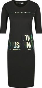 Sukienka Love Moschino w stylu casual mini z okrągłym dekoltem