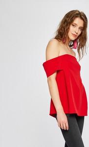 Czerwona bluzka Missguided hiszpanka w stylu casual