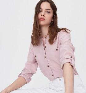 Koszula Sinsay z dekoltem w kształcie litery v w stylu casual