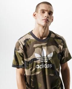 T-shirt Adidas z krótkim rękawem z nadrukiem