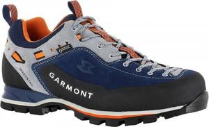 Granatowe buty trekkingowe Garmont z goretexu