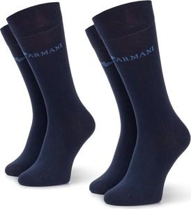 Niebieskie skarpety Emporio Armani