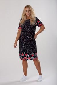 Sukienka Ptakmoda.com z krótkim rękawem dopasowana