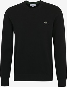 Czarny sweter Lacoste z bawełny
