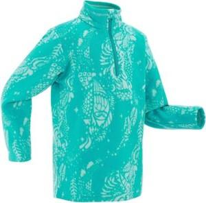 Turkusowa bluza dziecięca Quechua
