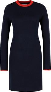 Sukienka Calvin Klein z okrągłym dekoltem w stylu casual z długim rękawem