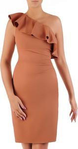 Pomarańczowa sukienka POLSKA