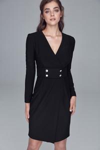 Sukienka Nife mini kopertowa w stylu casual