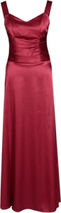 Czerwona sukienka Fokus z satyny