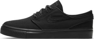 Czarne trampki dziecięce Nike sznurowane
