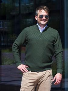 Sweter M. Lasota z dzianiny w stylu casual