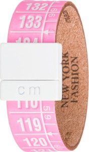 Il centimetro new york bransoletka s 18 cm różowy biały