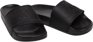 Czarne klapki Guess z płaską podeszwą w stylu casual