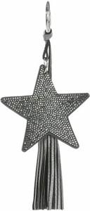 Bijoux Paris Dwustronny Brelok do torebki Stars z cyrkonami z grubym frędzlem Iron (kolory) Dodatki do Torebek